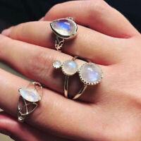 Set Gold Rings Finger Moon Boho Midi Silver Arrow Knuckle Jewelry Retro Flower