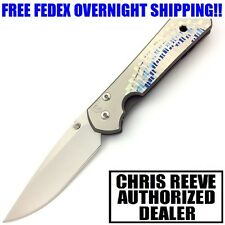 CHRIS REEVE SMALL SEBENZA 21 TITANIUM WITH UNIQUE GRAPHIC CPM-S35VN STEEL KNIFE
