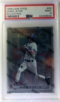 1996 96 Leaf Steel Derek Jeter Rookie RC #40, W/Coating, PSA 9, Pop 17, Only 1^