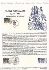 DOCUMENT PHILATÉLIQUE - YT 2394 - 1er JOUR 1986