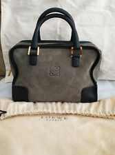 Loewe Amazona Suede Leather Bag - 100% Authentic, Excellent Condition