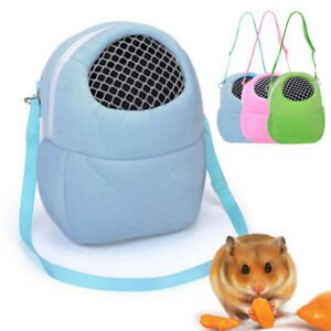 IC- JW_ Breathable Hamster Hedgehog Carrier Bag Rabbit Cage Pets Travel Pouch Po