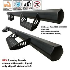 HEX Dodge Ram 1500 2500 3500 Crew Cab fit 09-18 HEX Side Step Running board