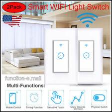 US 2Pcs Smart WIFI Light Switch Remote Alexa Google Home Voice Control Tuya APP