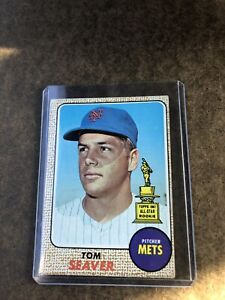 1968 TOPPS TOM SEAVER ROOKIE CARD # 45, G-VG