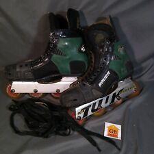 *Read* Bauer biax series BlAx Breakout green Roller Hockey Skate 8 D Used 90s