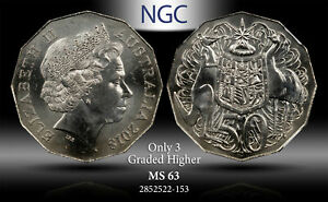 2018 AUSTRALIA 50 CENTS NGC MS 63 ONLY 3 GRADED HIGHER #C