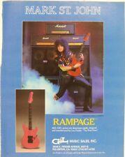 retro magazine advert 1986 G&L RAMPAGE / mark st john + marshall