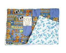 New listing Handmade Baby Quilt Blanket Reversible Unique Colorful Animals Noah's Ark Trucks