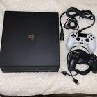 Sony PlayStation 4 PS4 Pro CUH-7015B 1TB 4K Console - Jet Black Bundle 2 Remotes