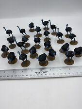 #27 Plastic Zoo Animals Lot Of 24 Ostrich Bird Jungle Safari Party Favor Toy
