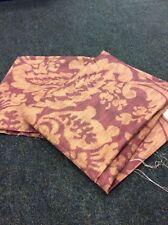 "3.54m WARWICK Fabrics ""Darsi""Brocade Mulberry Print Fabric Curtains FREEPOST"
