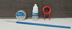 Krytox GPL 205 Grade 0 PFPE Grease + Krytox GPL 105 PFPE Oil + Brush + KeyPuller