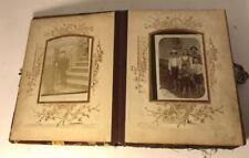ATQ Vintage Floral Photo Album with Original 19th Century (1800's) CDV Photos