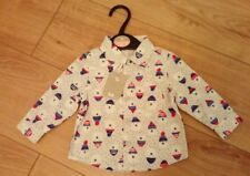 New Baby Boy Palar Bear Buttoned 100% Cotton Shirt Age Up to 1 Month / 9lb