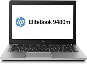 """HP Elitebook Folio 9480m i5-4310U 8GB 128GB SSD 14"""" Screen Win 10 Pro"""