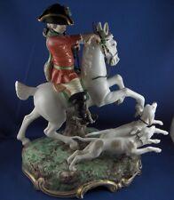Large Nymphenburg Porcelain Hunter & Dog Figurine Figure Porzellan Jaeger Figur