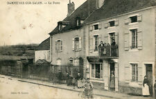 DAMPIERRE SUR SALON La Poste Le facteur part en tournée à vélo Villageois