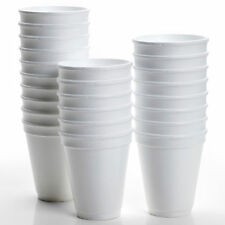 200 X Disposable Foam Cups Polystyrene Coffee Tea Cups for Hot Drinks 10oz