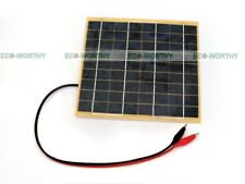ECO 5W Solar Panel w/ Battery Clip for 12V Car Home Camping Boat Battery Charger