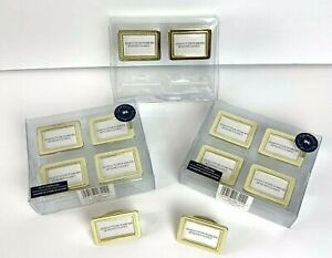 Napking Holders w/ Name Card Slot Yellow Gold 3 Boxes New in box 12 pieces