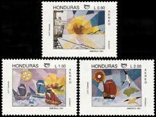 ✔️ HONDURAS 1992 - UPAEP ART AMERICA - MI. 1131/1133 ** MNH OG [101.024]