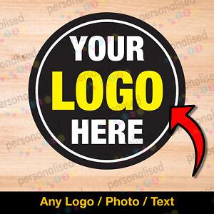 1000 Personalised Logo Stickers Custom Printed Round Labels Various Sizes Bulk