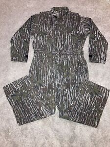 Vintage Walls Realtree Jumpsuit Coveralls Camouflage USA Made Size XL 46-48