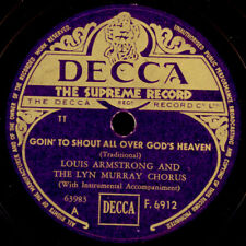 LOUIS ARMSTRONG  Goin' to shout allover God's Heaven   Schellack  78rpm X2430