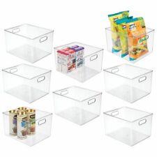 """mDesign Plastic Kitchen Food Storage Organizer Bin, 10"""" Wide, 8 Pack - Clear"""