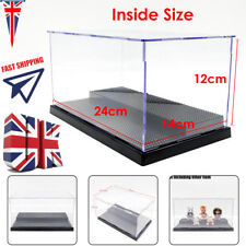 UK 25cm Acrylic Display Box For Loz Nano Block Minifigure Plastic Base Showcase