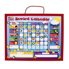 Kids Wooden Magnetic Reward Star Chart 52pcs Behavior Correct Parenting Tool