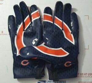 NIKE VAPOR KNIT 2 MEN'S NFL FOOTBALL GLOVES CHICAGO BEARS PGF397-061