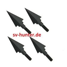 3x Rock Jagdspitzen Bogenjagd 4 Klingen 100 grain Pfeilspitzen Bolzen SPITZEN SV