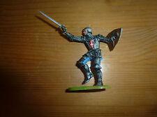 Petit soldat en plastique, à l'épée et bouclier, Moyen Age, Elastolin, ref. 8939