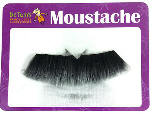 Grey Thick Colonel Moustache Groucho Mustache Mo Costume Accessory