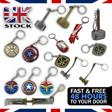 Marvel Keyring Captain Marvel, Captain America, Thor Hammer/Axe Stormbreaker UK