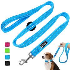 4ft Reflective Dog Nylon Leash Soft Fleece Padded Handle Pet Dogs Walking Lead