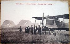 1910 French Aviation Postcard: Aviation Richard-Orly (Seine)-Montage des Breguet
