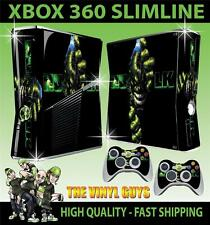 XBOX 360 SLIM TEAR INCREDIBLE HULK AVENGER STICKER SKIN & 2 PAD SKINS