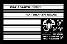 FIAT 500 F/L/R KIT FASCE STRISCE ADESIVE PORTIERA SCRITTE ABARTH 595 + SCORPIONI