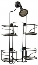 Expandable Over-the-Showerhead Caddy, Bronze Zenna Home , storage holder shower