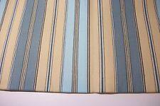"med wt cotton canvas lg vert stripes of gold,green,aqua 1 yd x 44"""