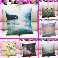 "18"" Home Decor Cotton Linen Throw Pillow Case  Romantic Sofa Waist Cushion Cover"