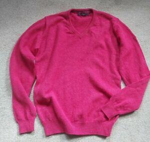 JAMES PRINGLE EWM deep Pink PURE NEW WOOL Jumper Top Sweater Size S