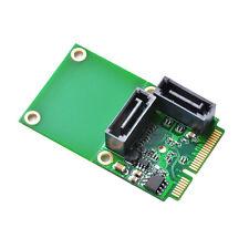 Mini PCI-E PCI Express to 2-Port SATA 3.0 III 6Gb/s Expansion Adapter Card AC696
