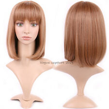 Real Thick Women Long Hair Full Wig Natural Curly Wavy Layer Cosplay Wig Blonde