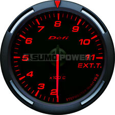Defi Racer 52mm Car Exhaust Temperature Gauge - Red - Stepper Motor -DF06805
