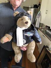"Vintage Pilot Aviator Teddy Bear L Ed.1982 Bialosky 26 "" Bomber Jacket goggles"