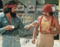 Cheech and Chong Dual Signed Autographed 11X14 Photo Up in Smoke JSA GG68649